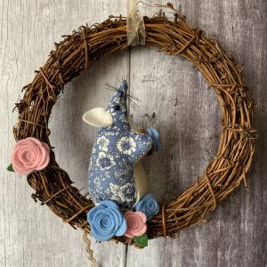 Floral Liberty Mouse Wreath