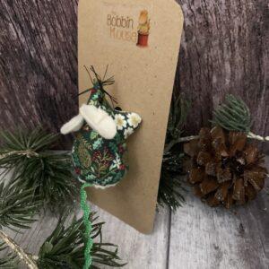 Foliage Christmas Liberty Mouse Brooch