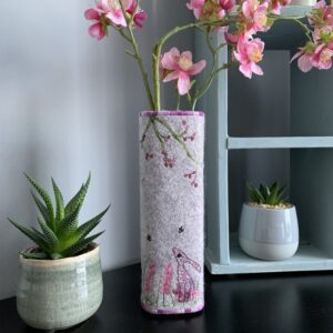 Pink Hare Liberty Vase Cover