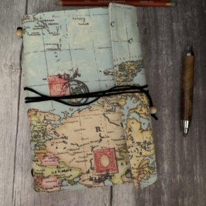 A5 Map Print Travellers Journal