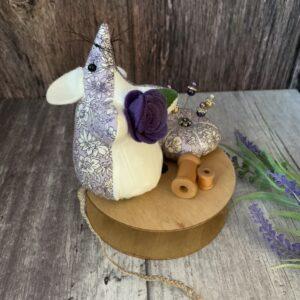 Purple Liberty Mouse Pin Cushion
