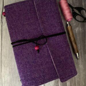 Purple Harris Tweed Travellers Journal